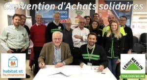 Signature Convention Achats Solidaires Lm Balma et HH MP
