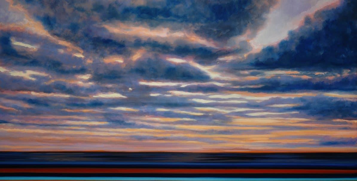 Om Shining Through The Clouds 2021 Huile Sur Toile 160x180cm Om202101944 Cr.a.mole