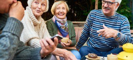 Senior Friends Enjoying Time Outdoors